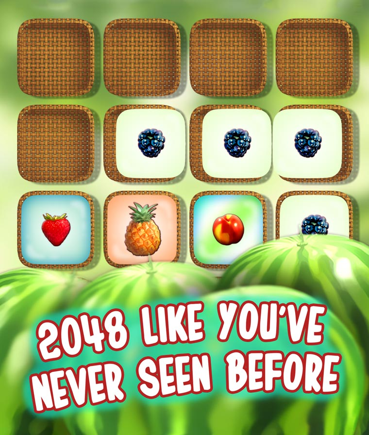 Fruityply is a game inspired by Gabriele Cirulli's game 2048.