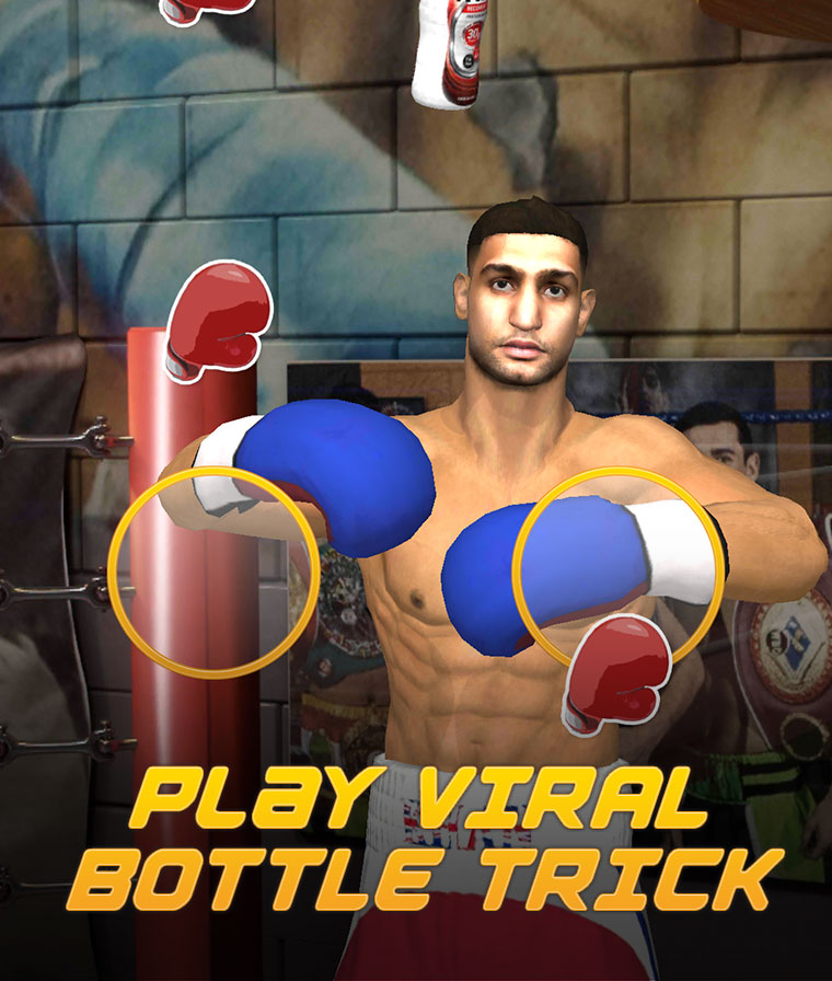 Take on Khan's viral bottle trick in 3D.